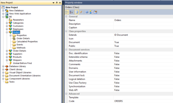 3. Derive the ORM classes from the database tables.